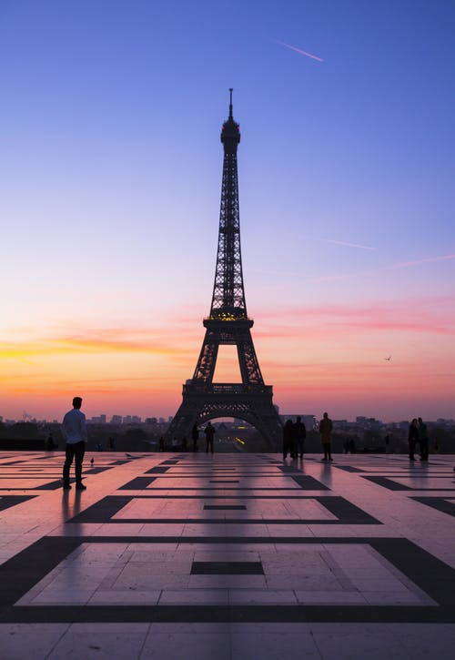 Free stock photo of eiffel tower, paris, sunrise