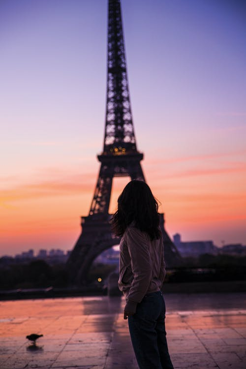 Free stock photo of eiffel tower, girl, paris