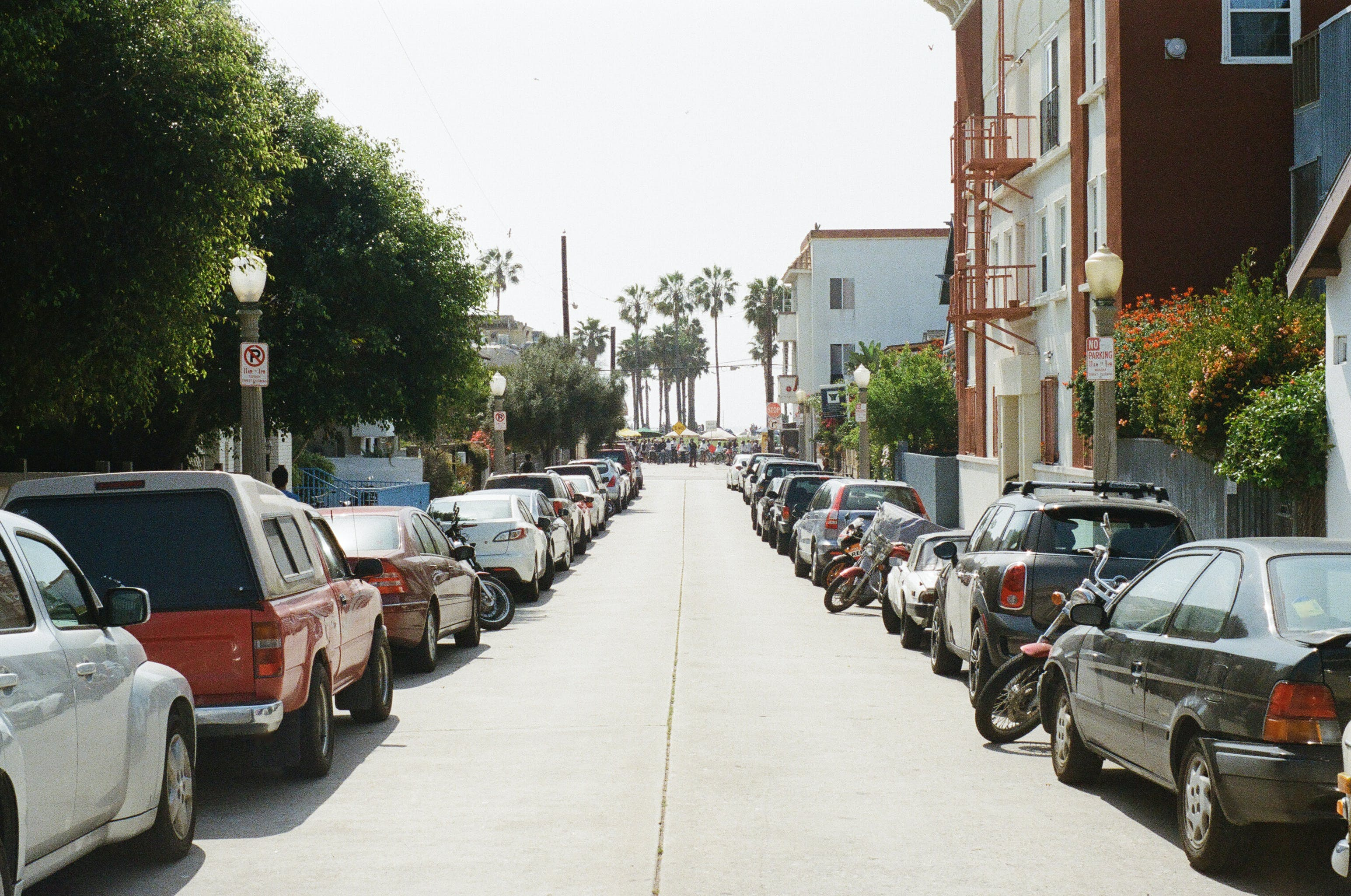 Vehicles Parked on Sidewalk