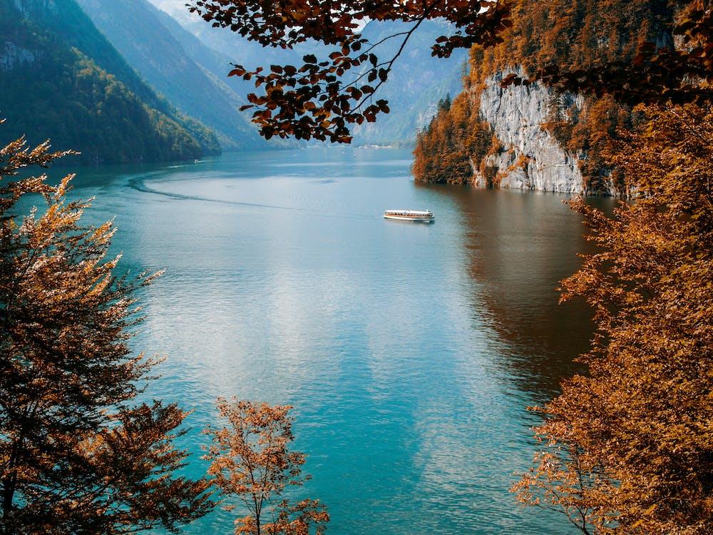 cestovať, hora, jazero
