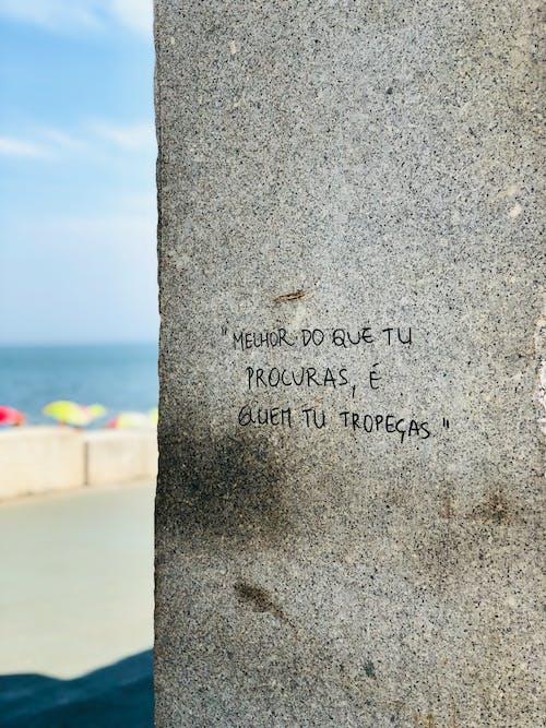 Imagine de stoc gratuită din artă stradală, citate, dragoste, faleză