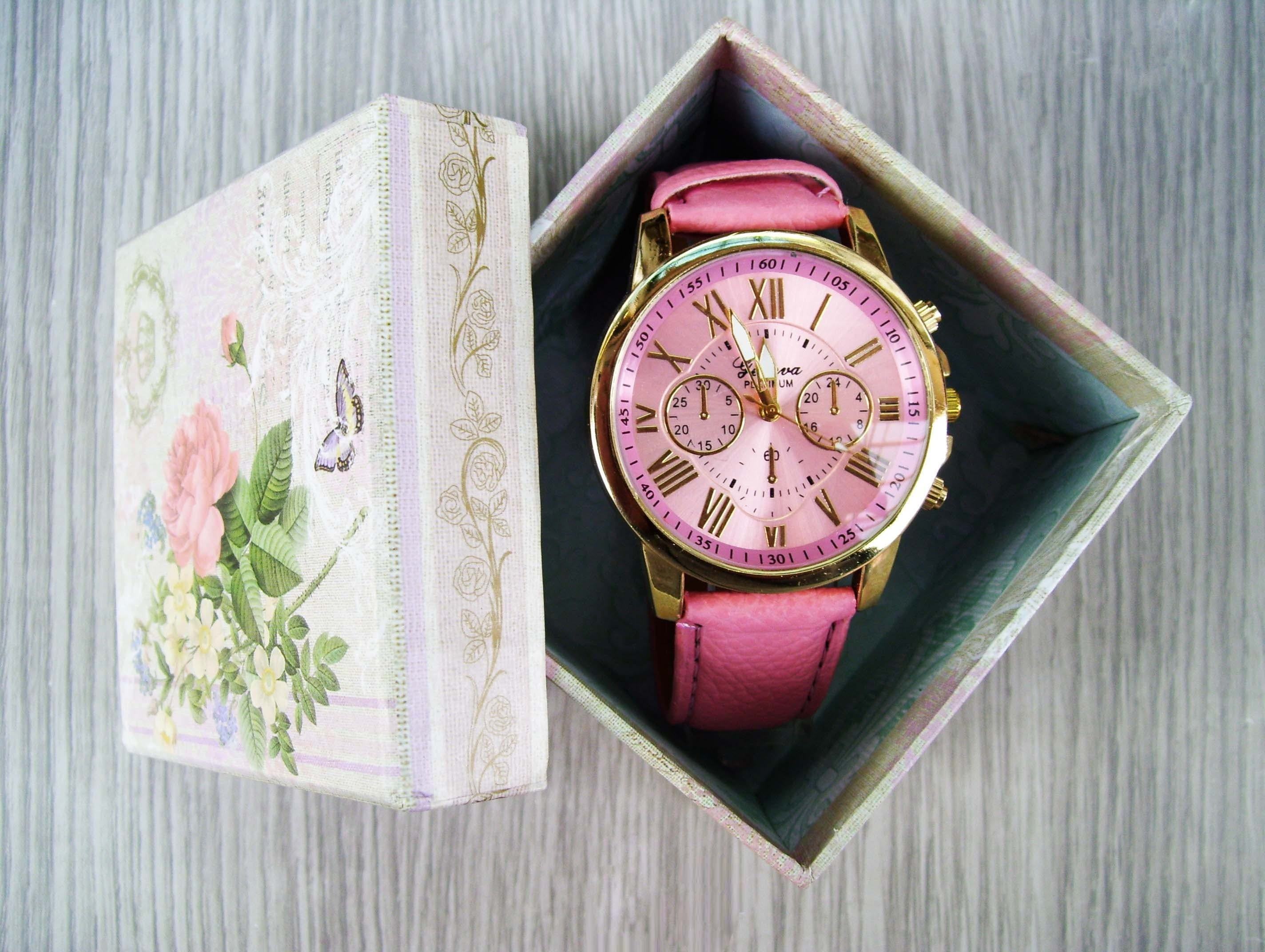 Gold-colored Watch in Box