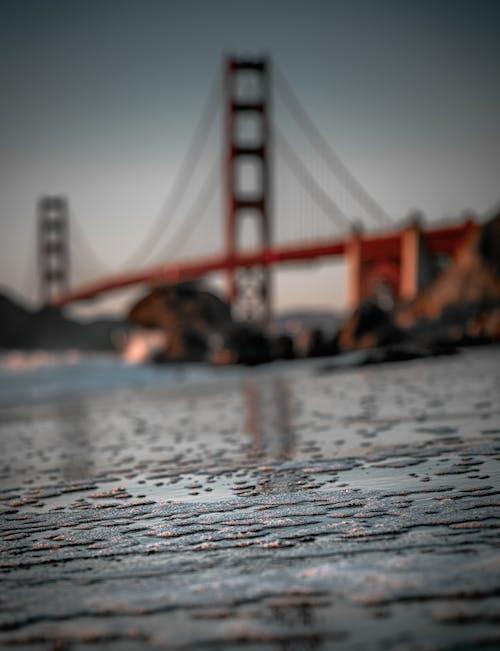 日落, 橋, 水, 海灘 的 免費圖庫相片