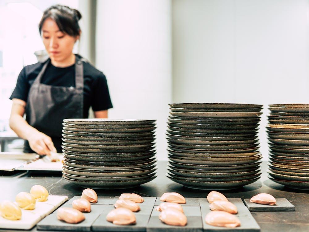 chef, kitchen, plates