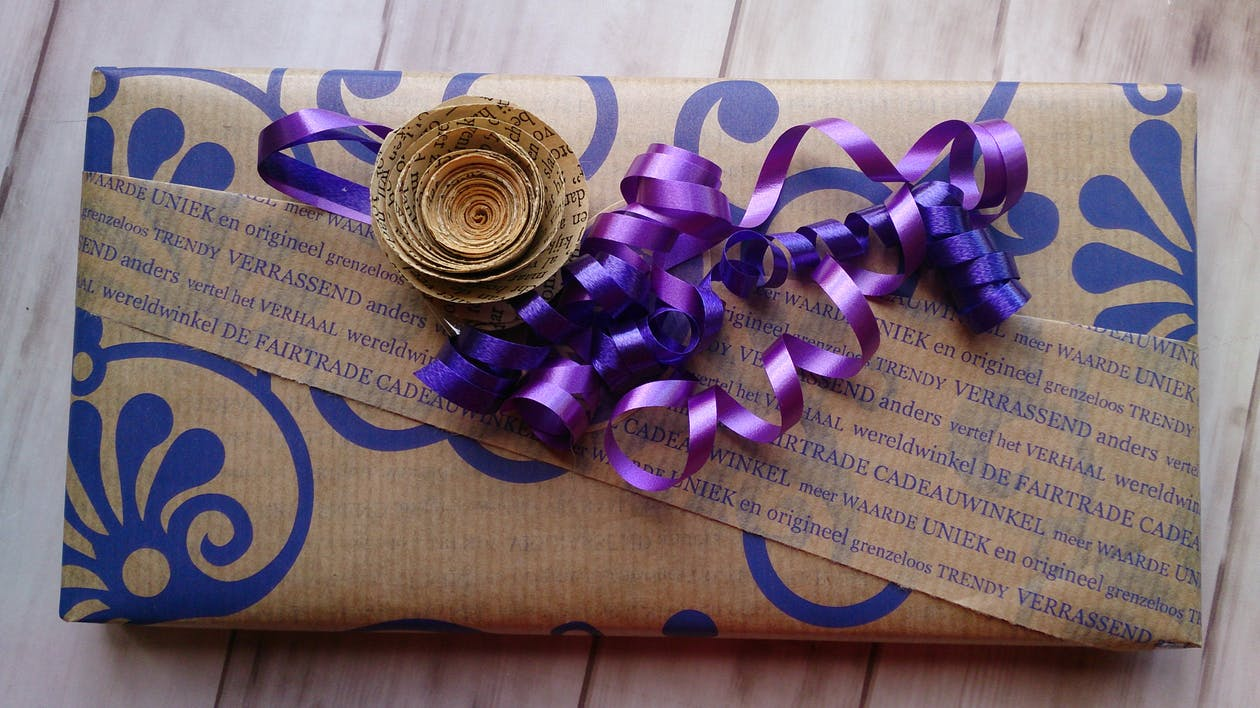 wereldwinkel, подарочная упаковка, пурпурный