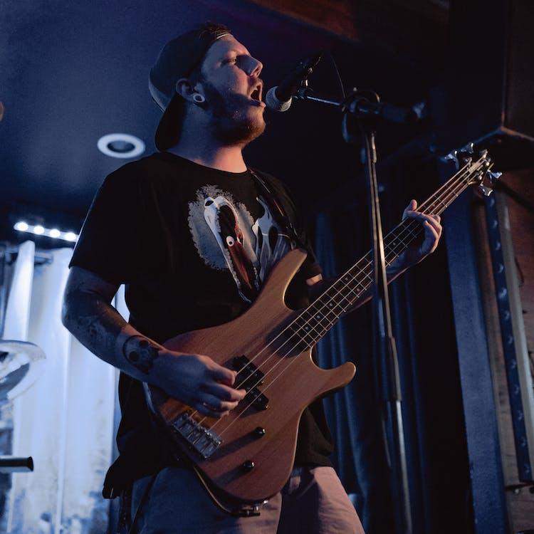 áll, álló, basszusgitáros