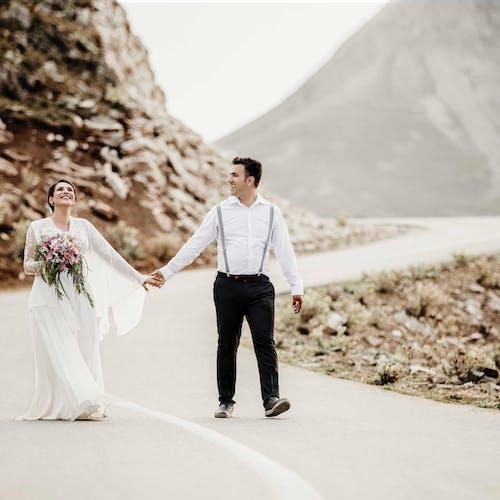 Foto d'estoc gratuïta de boda, dia del casament, foto d'art, vestit de núvia