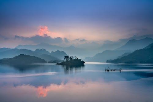 剪影, 天性, 山, 平靜 的 免费素材照片