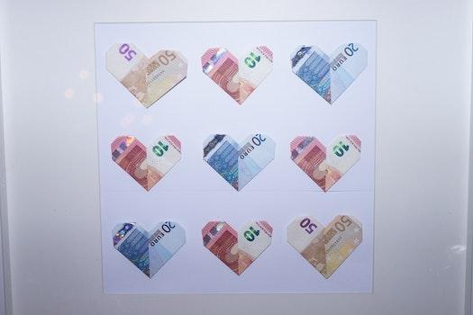 Free stock photo of gift, idea, money, bills