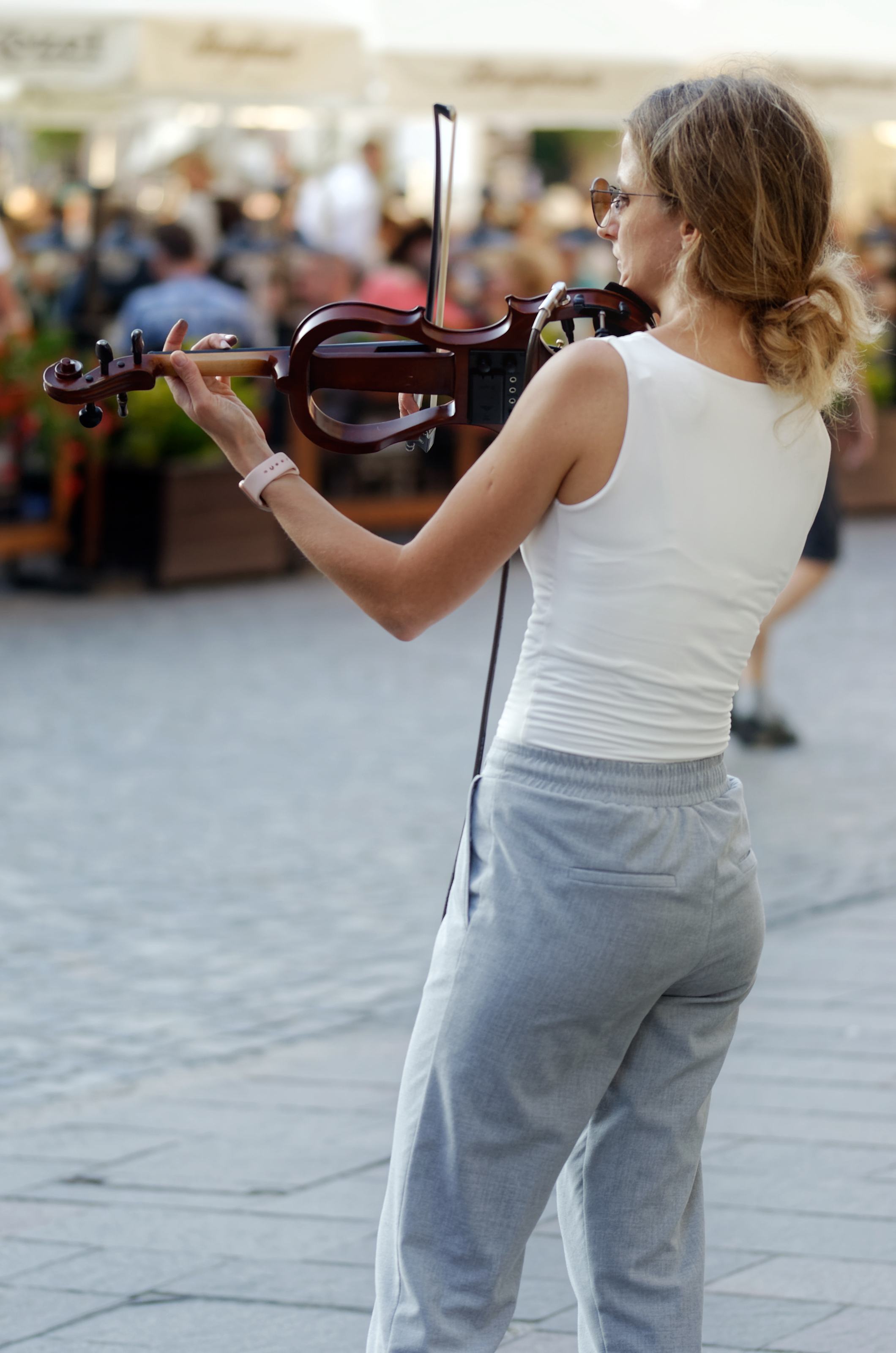 Woman Playing a Violin