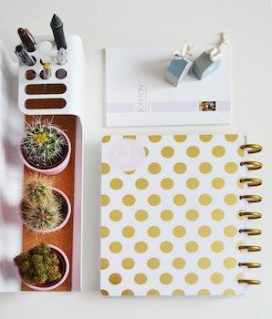 Free stock photo of art, desk, notebook, pens