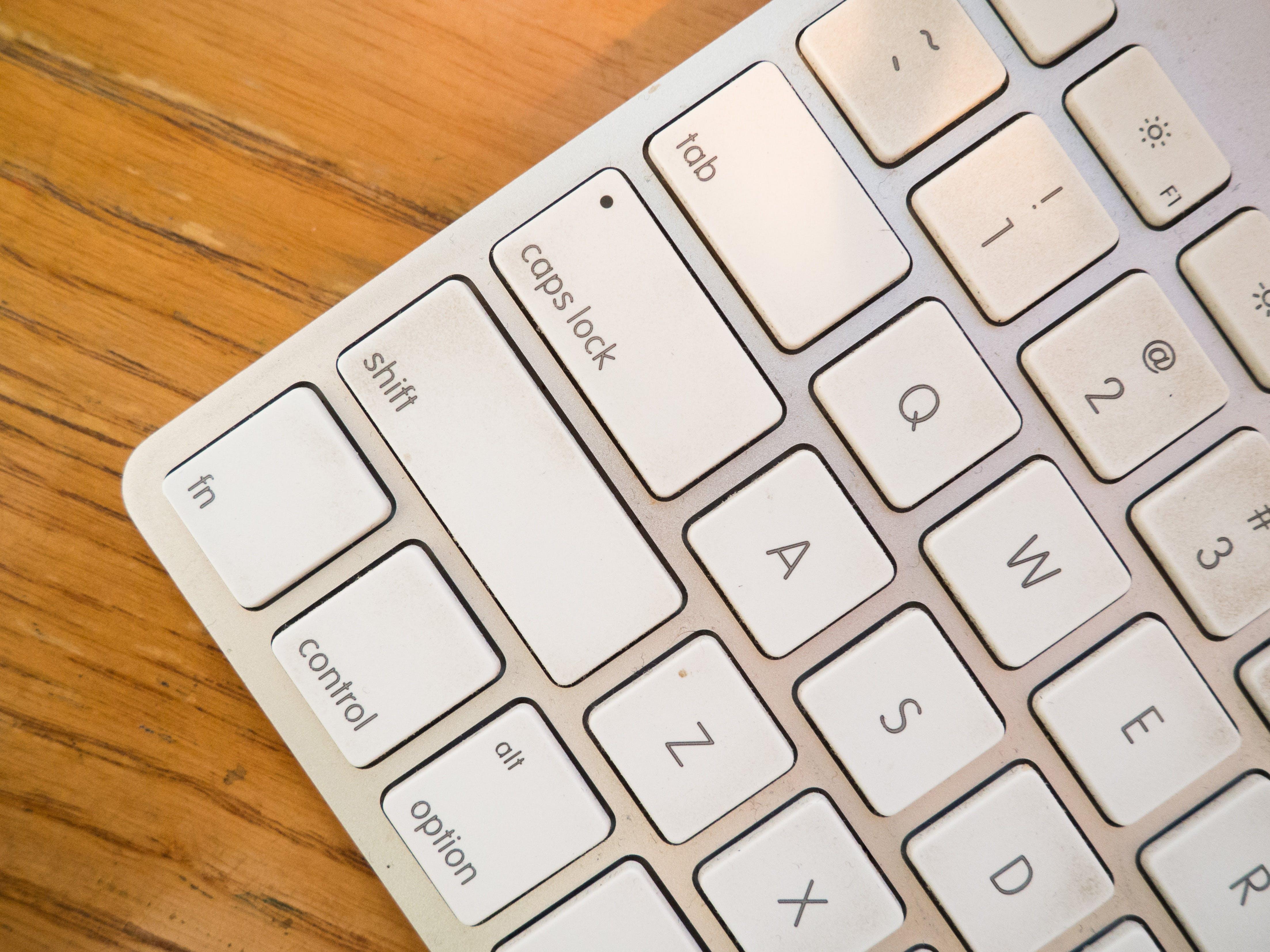 Základová fotografie zdarma na téma klávesnice, mac, zblízka