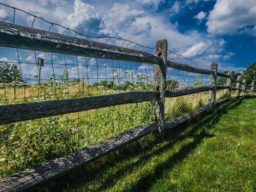 Free stock photo of fence, field, green, landscape