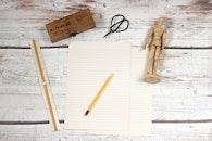 wood, desk, pencil