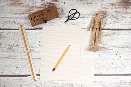 Free stock photo of wood, desk, pencil, table