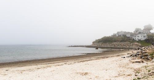 Free stock photo of beach, fog, gray, landscape