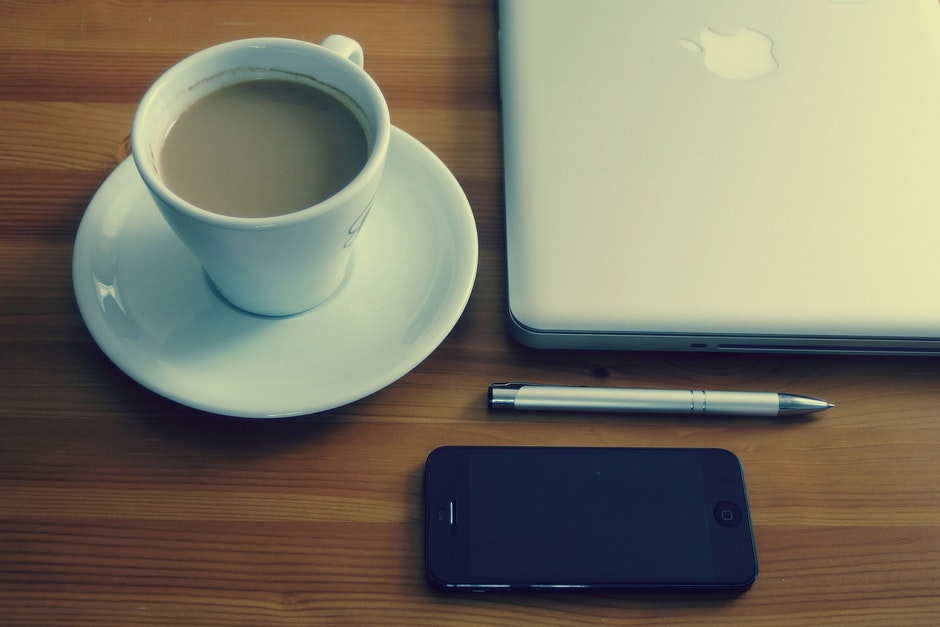 apple, business, coffee