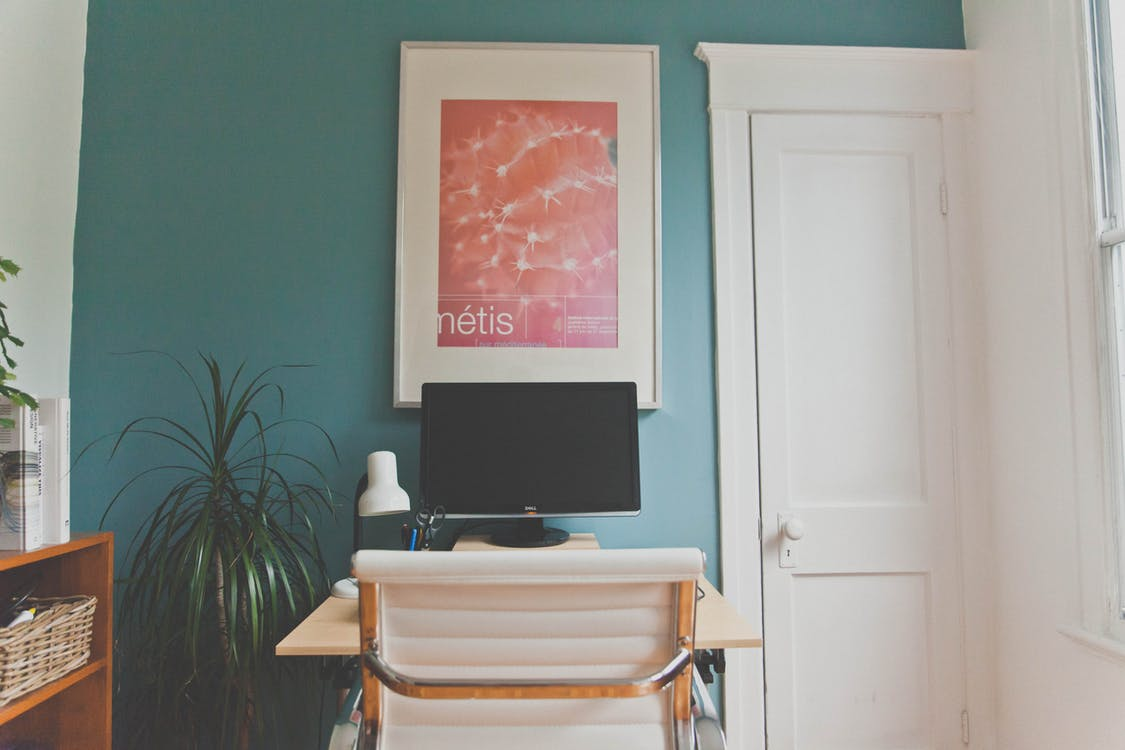Flat Screen Tv on Wooden Table