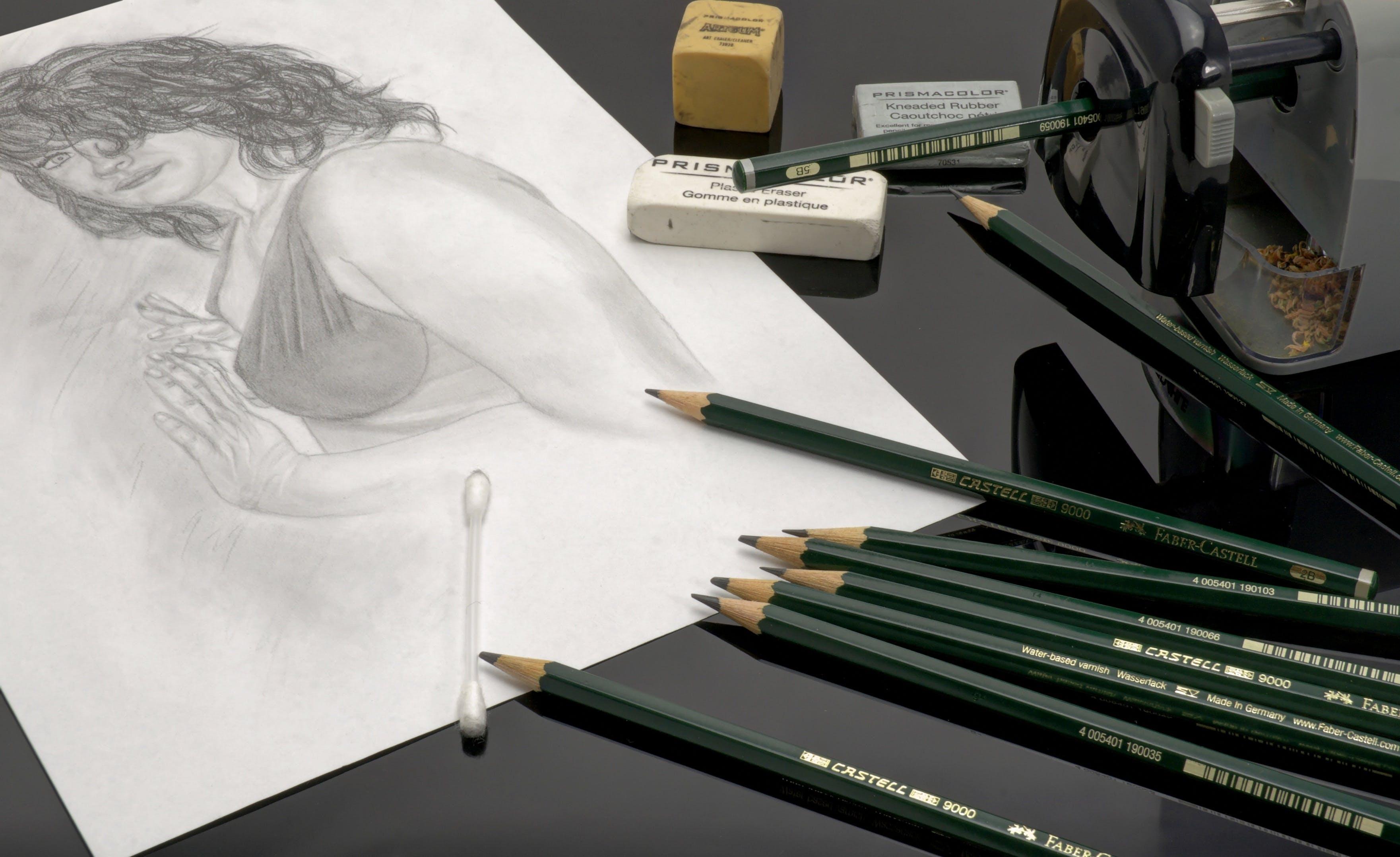 Free stock photo of art, desk, office, pencil