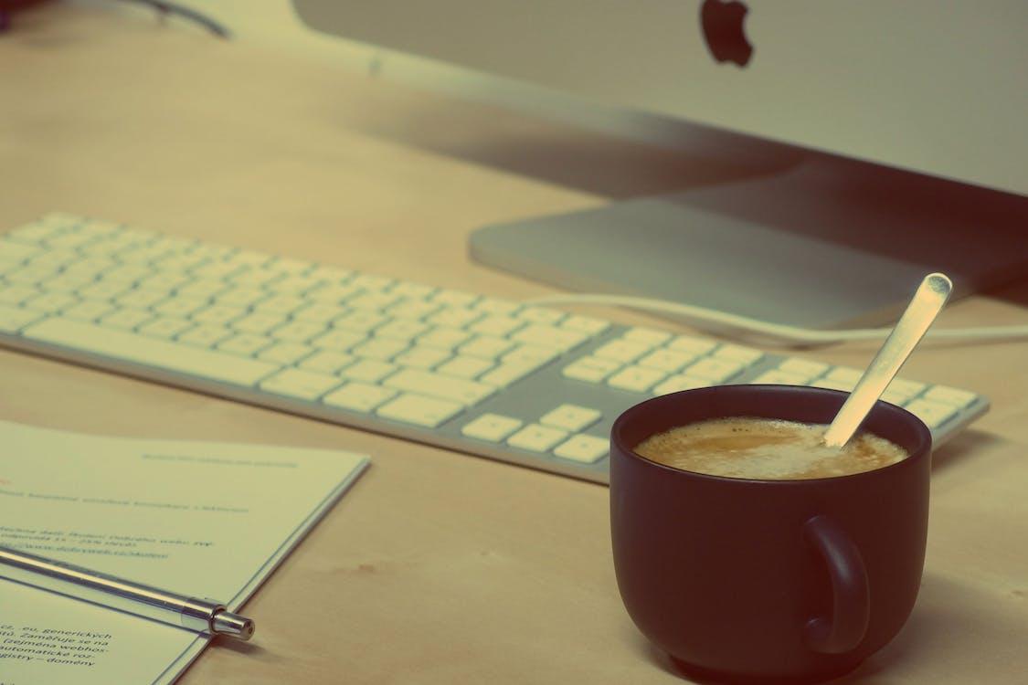 belge, bilgisayar, cappuccino