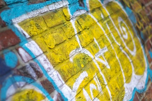 Free stock photo of graffiti, contrast, cool, close -up