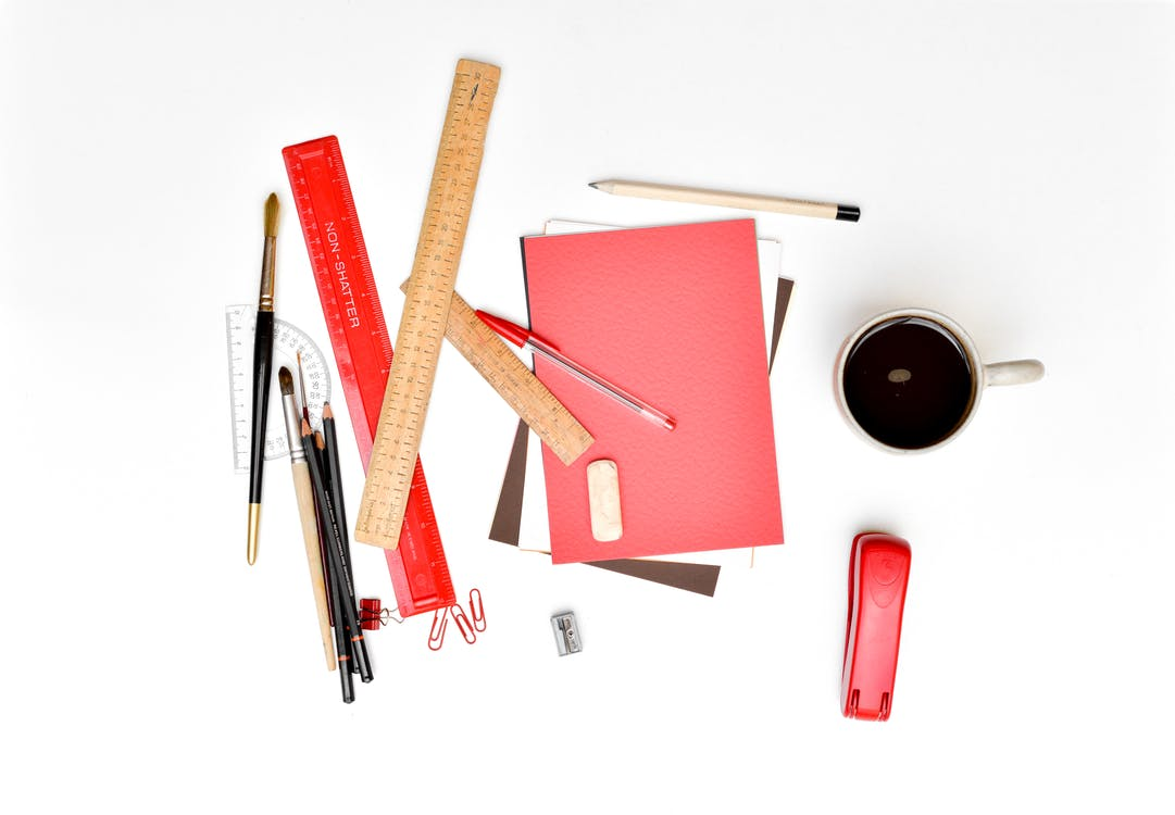 Free stock photo of clips, clutter, coffee