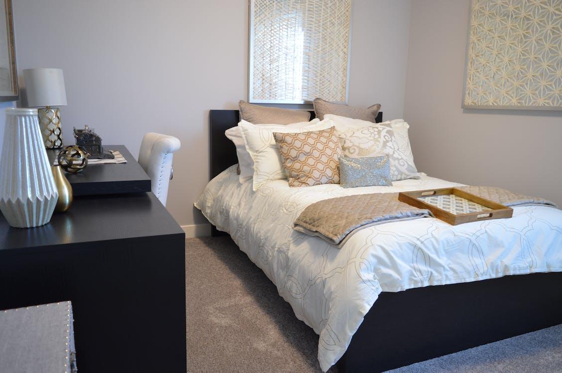 bed, bedding, bedroom