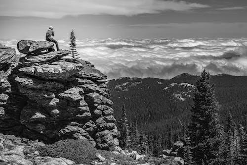 Photos gratuites de au dessus des nuages, escalader, falaise, grosse corne