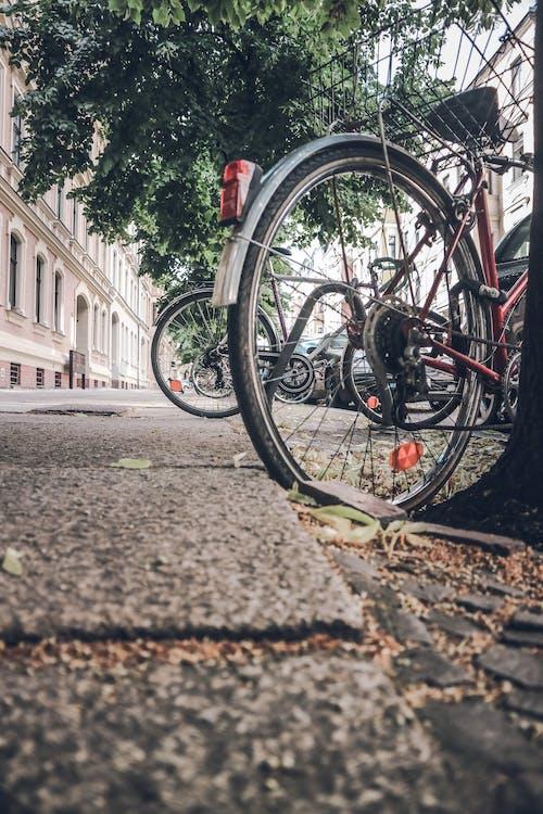 Kostnadsfri bild av cykel, gatubild, hall, hus