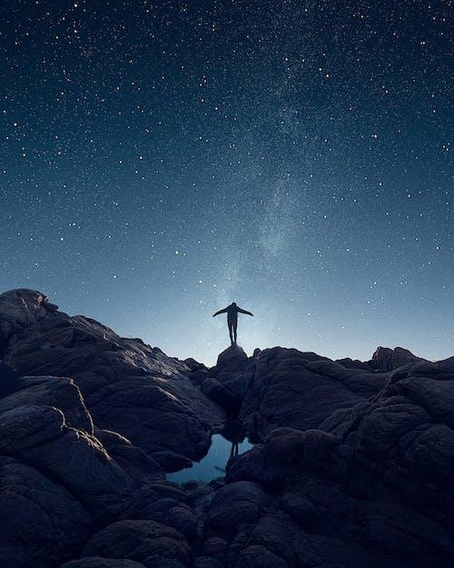 冒險, 剪影, 勘探, 天文學 的 免費圖庫相片