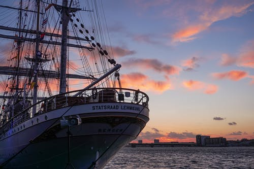 Free stock photo of boat, evening sky, harbor