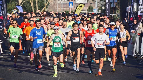 Photo of People in a Marathon