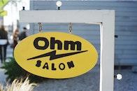 sign, salon