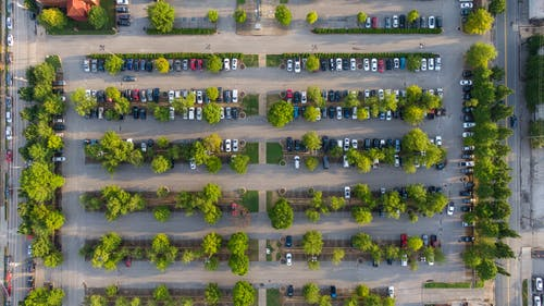 Top View Photo of Cars on Parking Lot