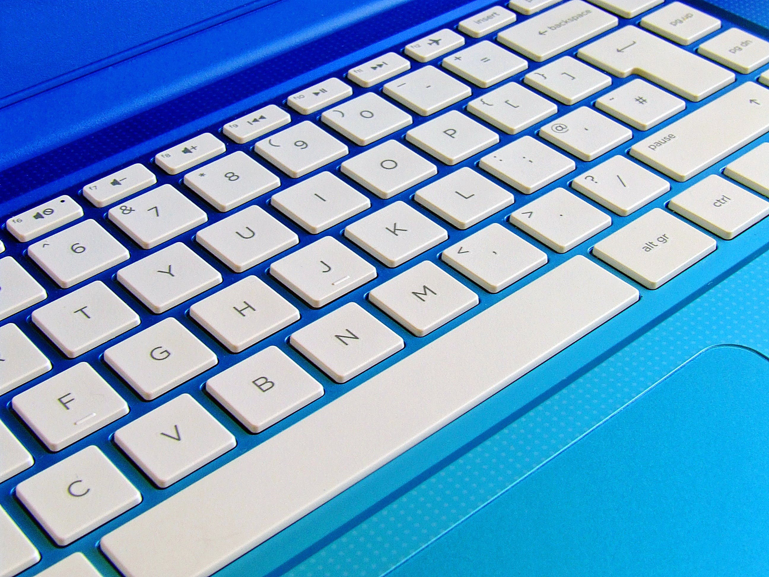 Blue Laptop Computer