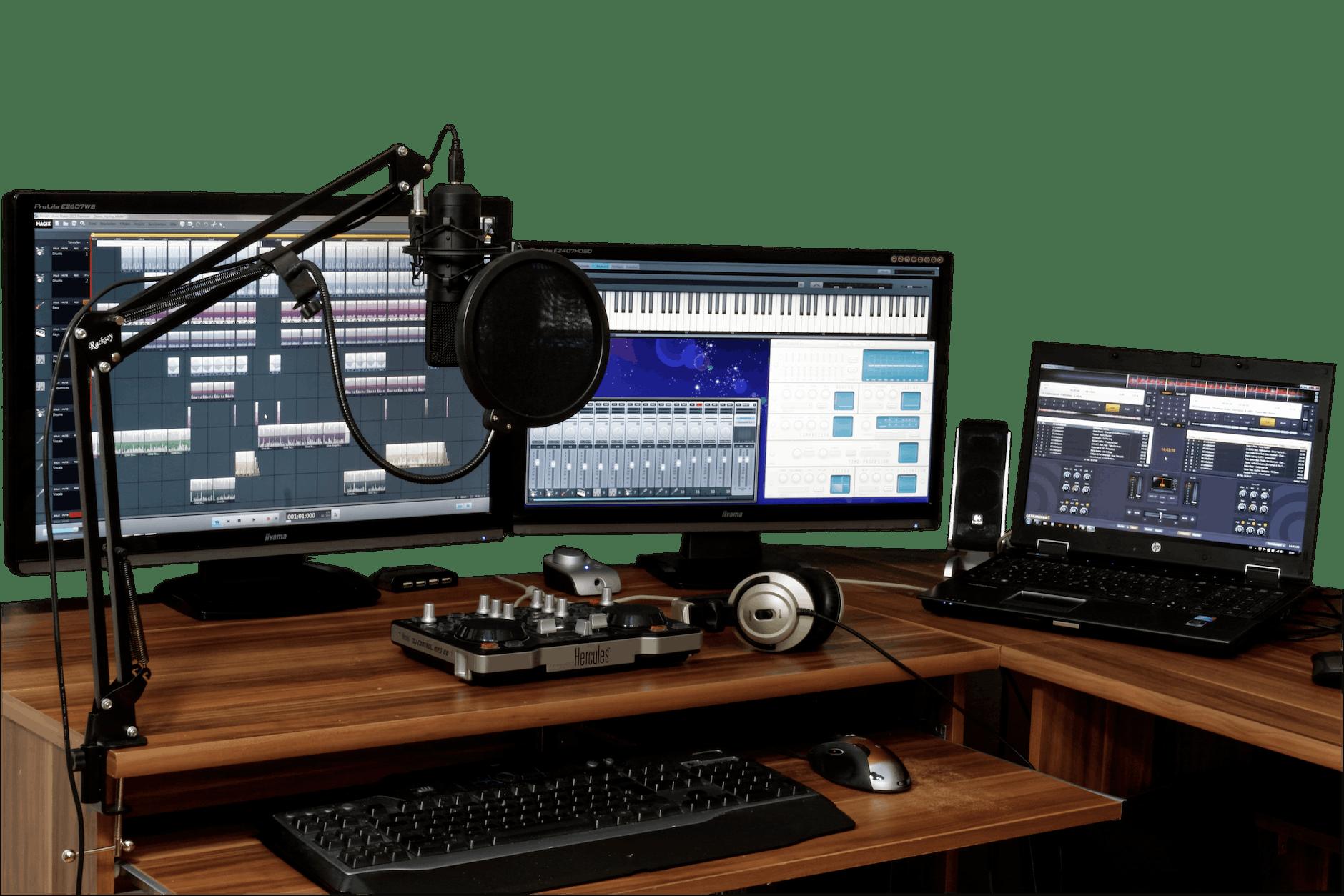 audio set and desktops