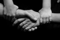 black-and-white, hands, love