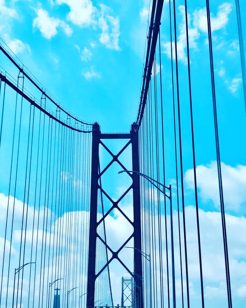 Imagine de stoc gratuită din 25 de pod abril, cer albastru, Lisabona, pod