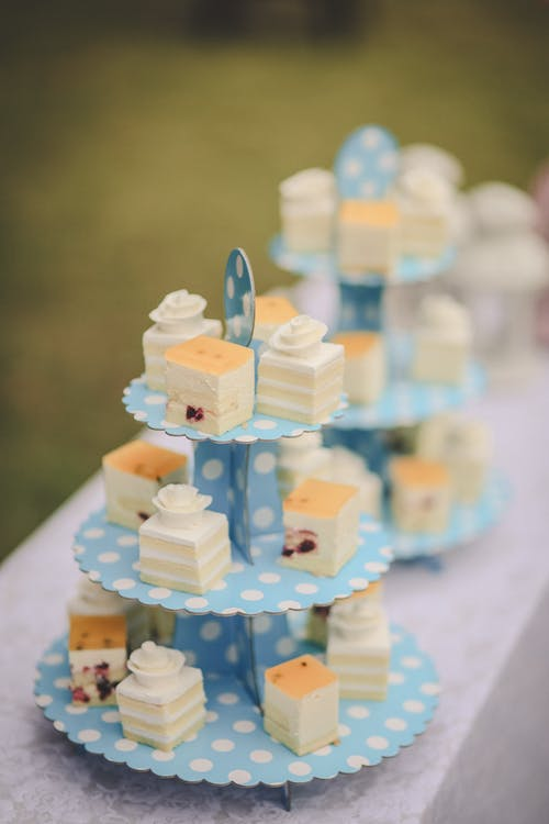 Two Blue Cupcake Racks