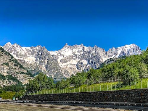 大自然, 漂亮, 瑞士, 白雪皚皚的山 的 免费素材照片