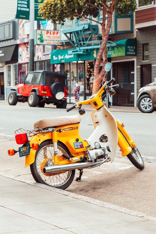 Photos gratuites de rue, scooter, vélo