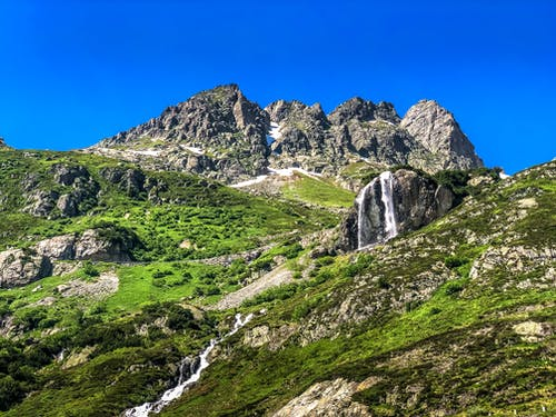 和平的, 瀑布, 瑞士, 美丽的风景 的 免费素材照片
