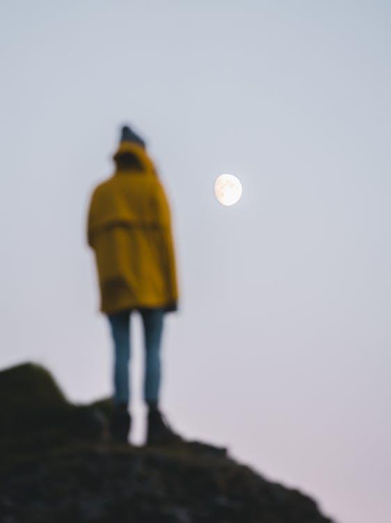 Shallow Focus Photo of Moon