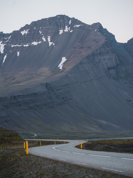 Concrete Road With Mountain At Distance
