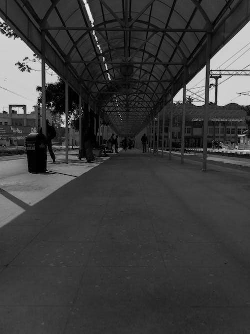 Fotobanka sbezplatnými fotkami na tému čierna a biela, stanica