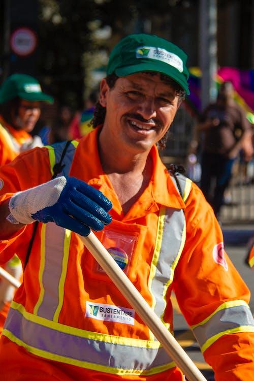 거리 청소부, 근로자, 오렌지, 전사의 무료 스톡 사진