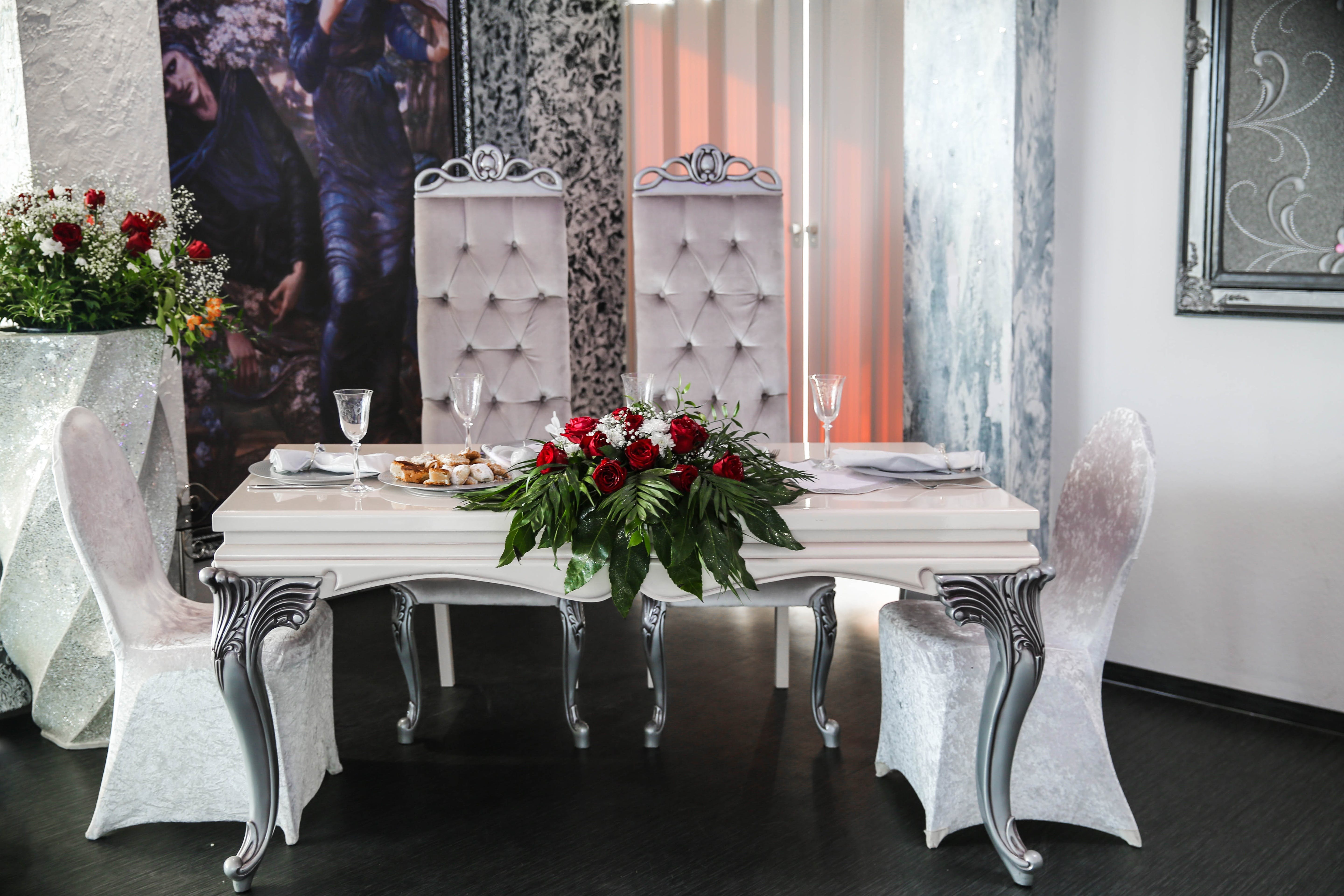 Fine Dining Table and Chair Set