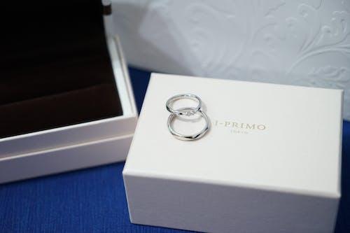 Foto profissional grátis de anéis de noivado, anel, argola, close