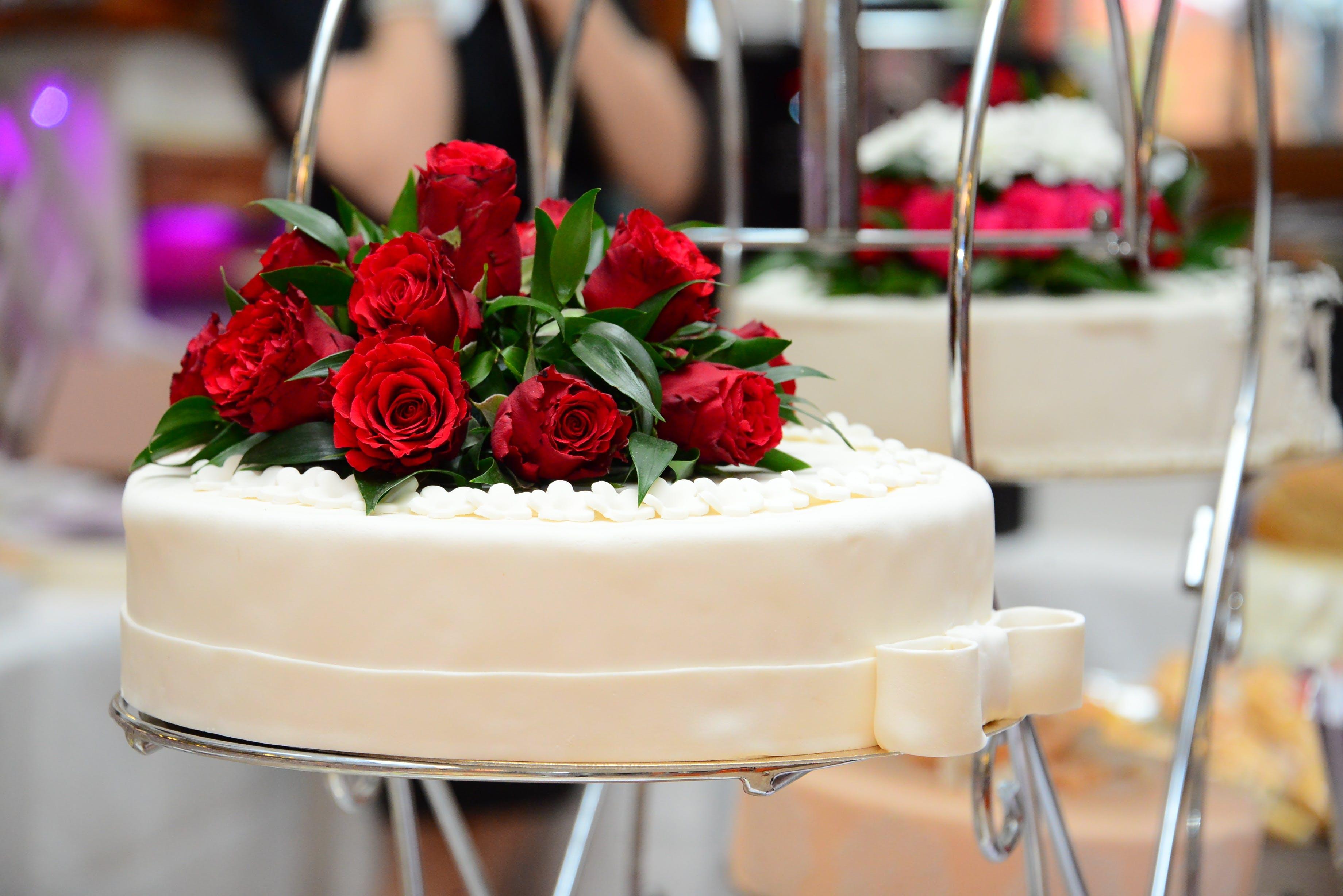 Free stock photo of white, cake, marriage, wedding