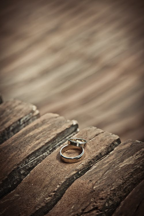 Silver-colored Wedding Band